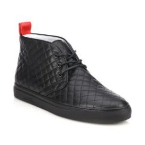 NEW! Del Toro Quilted Leather Chukka Sneakers